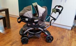 Tandem pram in excellent condition. Can carry 3 kids,