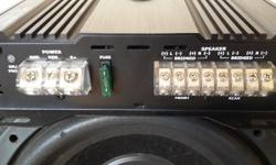 Hi i am selling my Targa 4ch amp and sub The amp was