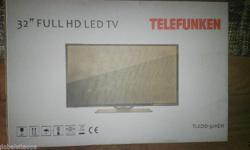 Telefunken 32 in Full HD As new. Only 3 months old