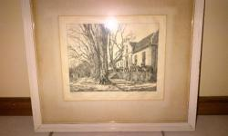 Old Tinus De Jongh Sketch Print of Stellenbosch found
