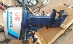 Tohatsu 30hp Outboard Motor. Complete and running.