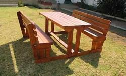 Benches are made of Approved  TREATED WOOD, BENCH IS