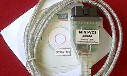 Mini-VCI OBD2 Diagnostic Interface USB Cable including