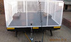 Large Trailer with caravan chasis. Refurbished,