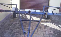 Break neck trailer unregistered but with roadworthy Tel