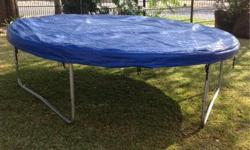 Large trampoline with cover. Well looked after. 60