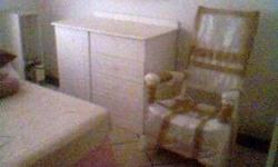 Sold White Compactum with matching rocker (Tree House