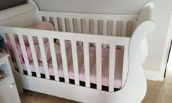 White Tree House sleigh cot with matress for sale alone