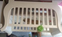 Treehouse baby cot nearly new complete in white