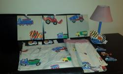 Treehouse Jolly Lorry bedroom set. 3/4 duvet cover, cot