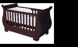 The Treehouse timeless sleigh cot can be used from baby