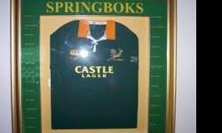 Beskrywing FRAMED AND SIGNED BY SPRINBOK TRI NATION