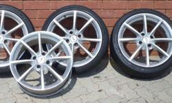 17 inch TSW rocket 4 rims for sale with 3 tyres