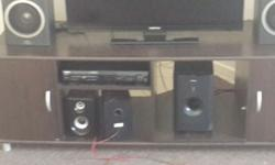 1 brown tv stand /cupboard R350