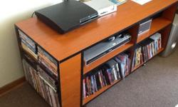 TV stand with adjustable shelves and DVD shelf Solid