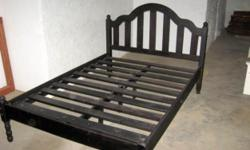 Beskrywing Two double size pine bed frames for sale.