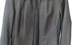 Two high quality imported black leather jackets One is