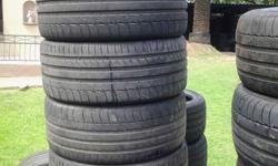Hi we sell secondhand Tyres that's pretested 70% to 95%
