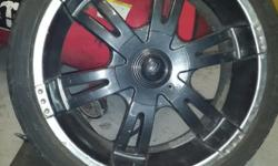 "4 X 20"" VCT CHEV CAPTIVA RIMS WITH 255/35/20"" DUNLOP SP"