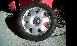 "4 X 14"" POLO RIMS WITH 185/60/14"" CONTINENTAL TYRES ALL"