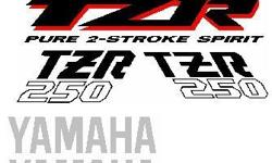 TZR 250 Yamaha decals stickers. These are vinyl and not