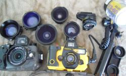 2X SEA & SEA  underwater film cameras complete with