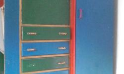 Beautiful, coulorful and functional art deco wardrobe,