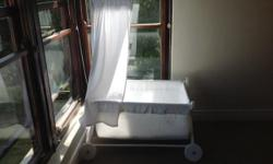 Baby cot for sale - as good as new. Includes mattress,
