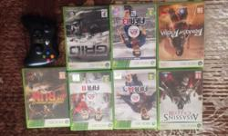 7 x Xbox 360 games ( as per picture ) Plus 1 x Black