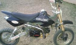 Vandal pit bike 125 has titanium exhaust and oil