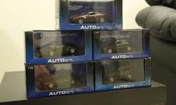 Model cars ranging from 1:38 to 1:43 for sale. All in