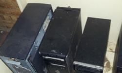 Various computer components for sale etc Empty towers