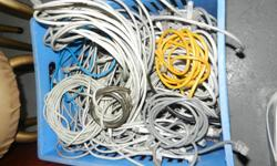 Various Computer & Telephone Cables All second hand  -