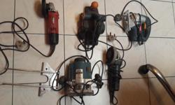 The following used power tools are for sale.  Ryobi