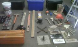 Various tools for sale.  Also includes 2 x tool boxes