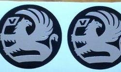 Vauxhall mag rim wheel centre decal stickers. Made from