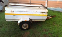 VENTER ELITE TRAILER WITH LID AND SPARE WHEEL,SCRAPPED