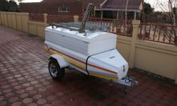Venter Super 6 trailer with extension and 4 bike