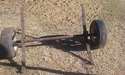 Venter trailer axle with 4 x �leaf springs� , rims and