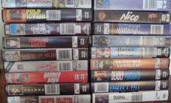 Over 50 VHS original tapes. Best movies. R8 each.