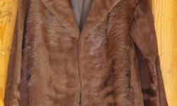 M Michaels, Exeter & Torquay vintage brown cowhide coat