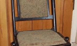 Got this single folding chair for sale. Phone