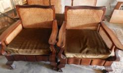 I am selling this beautiful stinkwood lounge set also