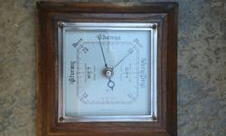 I am selling a beautiful  OAK Barometer made in England
