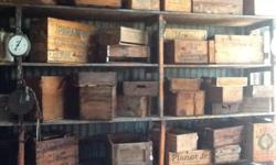Vintage wooden crates for sale. We opened a beautiful