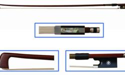 Brazilwood violin bows for advancing student. Mongolian
