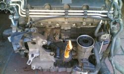 VW GOLF 5 1.9 tdi engine complete head block and sump