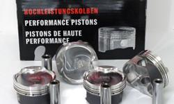 Wossner Forged Piston Kits: (incl rings, pins, &