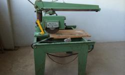 Wadkins Bursgreen Radial Arm Saw for sale. Excellent