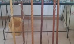 Various walking sticks - some very very old - good